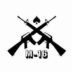 Assault Rifle clipart m16 - Pencil and in color assault ...