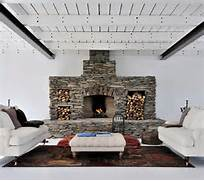 30 Stone Fireplace Ideas For A Cozy Nature Inspired Home Freshome Wood Burning Stoves Stoves Fireplaces Ideas Wood Stoves Fireplaces Fire Place Brick Color Ledge On Fireplace Mantel Color T V Above And Vivacious Fireplace In Lovely Yellow Stone Charming Fireplace