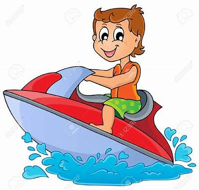 Water Clipart Sport Clip Boat Scooter Theme