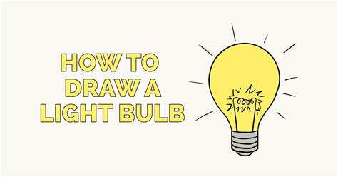How To Draw A Light Bulb by Made Archives Easy Drawing Guides