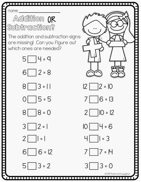 Math Sentences Worksheets  Balancing Math Equationsaddition Exercises With Missing Addends All
