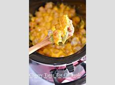 Crock Pot Tater Tot Casserole · The Typical Mom