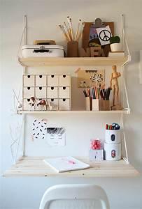 Home Office Einrichten Ideen : klappschreibtisch im kleinen home office 33 fotobeispiele ~ Bigdaddyawards.com Haus und Dekorationen