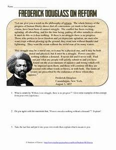 Frederick Douglass on Reform Primary Source by Students of ...