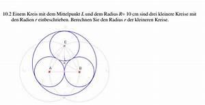 Radius Eines Zylinders Berechnen : berechnen sie den radius r der kleineren kreise mathe mathematik ~ Themetempest.com Abrechnung