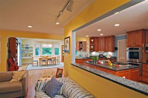 wall cut   kitchen  living room
