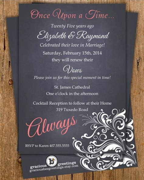 always vow renewal invitation 10th anniversary invitation