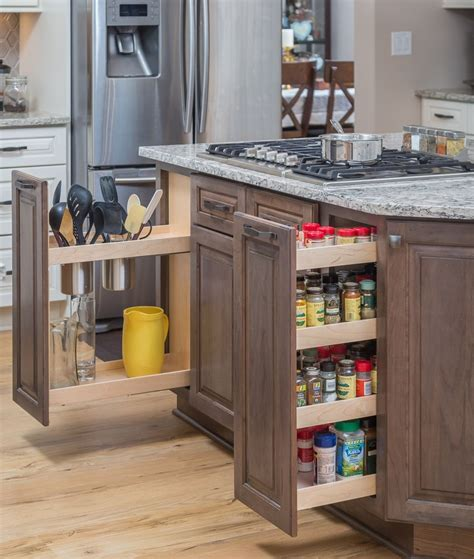 The Range Spice Rack by Pull Out Cabinet Storage Next To The Range For Cookings