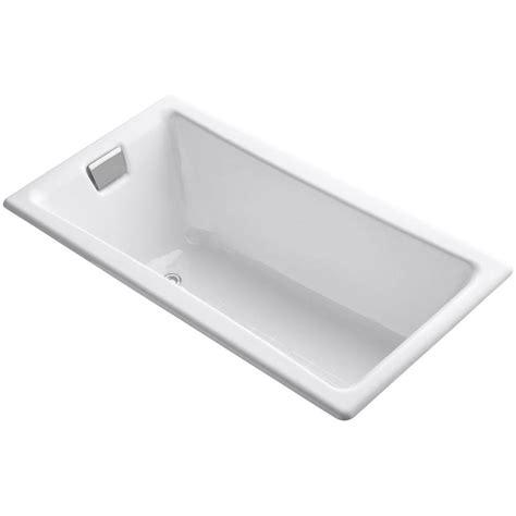 drop in cast iron tub kohler tea for two 5 ft reversible drain drop in cast