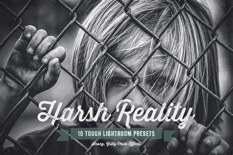 harsh reality lightroom presets add ons  creative market