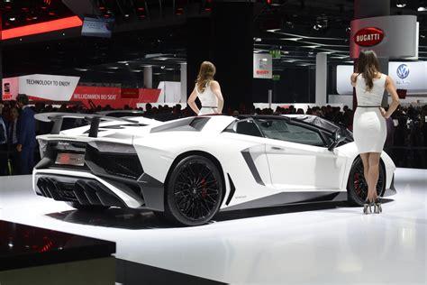 lamborghini aventador sv roadster white frankfurt motor show 2015 highlights gtspirit