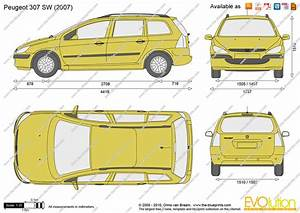 Dimension 2008 Peugeot : peugeot 307 sw vector drawing ~ Maxctalentgroup.com Avis de Voitures