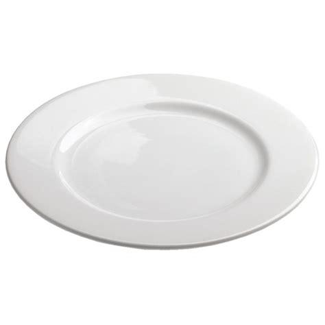 White porcelain dinner plates French Classique
