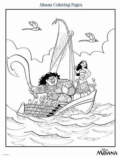 Moana Coloring Pages Disney Pdf Colored Pencils
