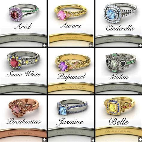 disney princess engagement rings a trace of case