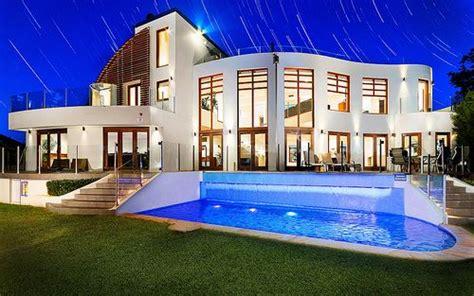 Huge House With A Big Pool Outside.