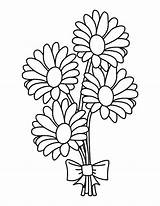 Coloring Bouquet Daisy Flowers Pages Wedding Drawing Flower Etsy Printable Sheets Adult Description Stencil Clipartmag Getdrawings Sold sketch template