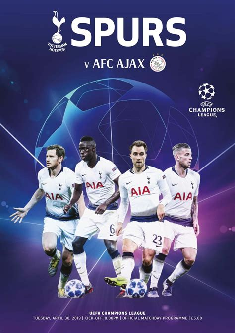 Tottenham Hotspur Publications-Spurs v Ajax Magazine