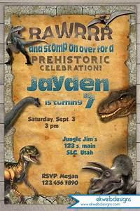 Jurassic Park Invitations 7th Birthday Invitation Theme Ideas