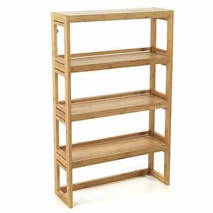 etagere de salle de bains en bambou danong meubles With meuble rangement salle de bain alinea