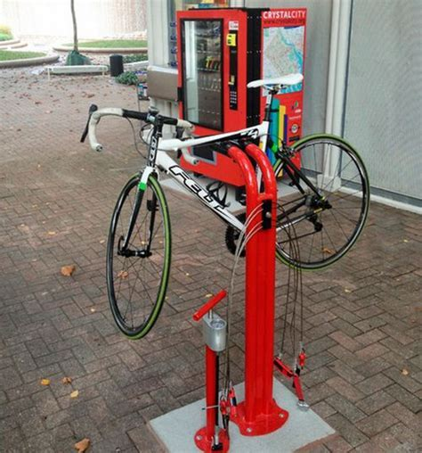 Public Workstand bike repair station by Huntco   Bike
