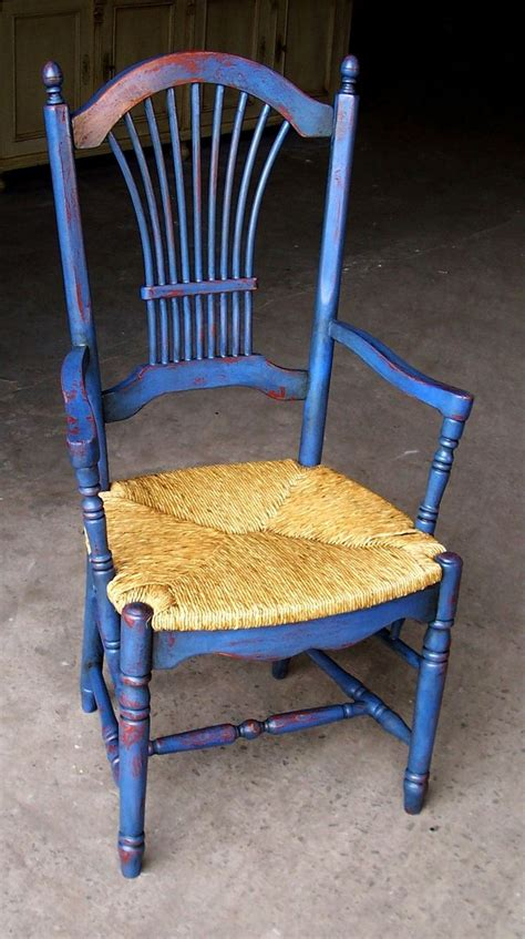 handmade fan back dining chair with custom 2 color rub