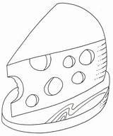 Queso Dibujo Colorear Queijo Colorir Dibujos Coloring Trozo Plato Desenhos Cocina Breakfast Alimentos Rodaja Rico Pintar Desenho Objetos Cheese Relacionados sketch template