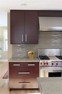 backsplash ideas Kitchen Contemporary with light ...