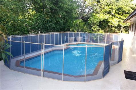 Blue Swimming Pool Fence  Pools For Home
