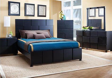 shop   roxanne black  pc queen bedroom  rooms