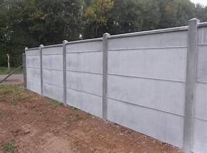 Mur En Béton : dalle lisse ton brut pour mur en plaque b ton atout clotures b ton bois rigide semi ~ Melissatoandfro.com Idées de Décoration