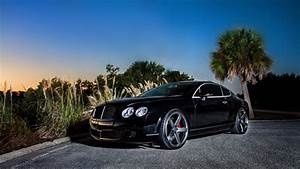 Full HD Wallpaper Bentley Continental Coupe Luxury Sunset
