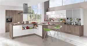 Modele Cuisine En L : mod le de cuisine moderne avec des touches de couleurs vibrantes ~ Teatrodelosmanantiales.com Idées de Décoration