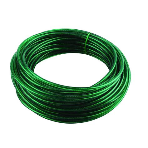 crown bolt 5 32 in 50 ft green vinyl coated wire clothesline 65025 the home depot