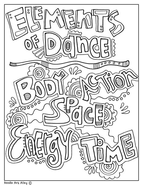 Londrina parana, v ling, v ling. The Arts Coloring Pages and Printables - Classroom Doodles
