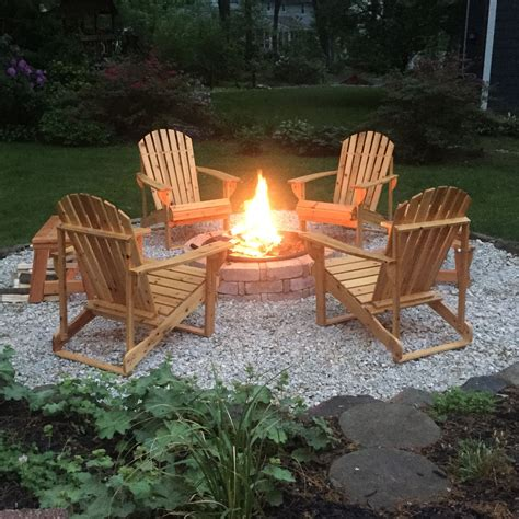 Backyard Chairs by Diy Backyard Pit Complete With Adirondack Chairs And