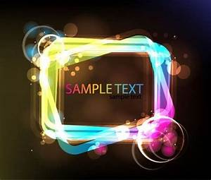 Neon Glowing Light Frame vector image 365PSD