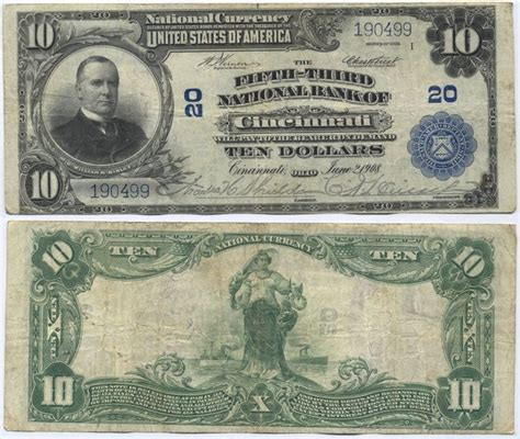 Us Fiat Currency by National Currency Note Paper Money Issued By