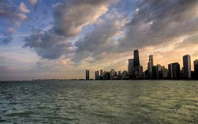 Chicago Skyline Desktop Winter Wallpapers Wallpapersafari Towns