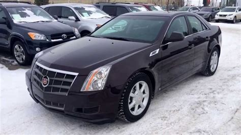 pre owned  cadillac cts sedan maroon black cherry review youtube
