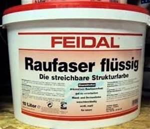 Raufaser Zum Streichen : feidal raufaser fl ssig 10 liter wei f r innen matt ~ Lizthompson.info Haus und Dekorationen
