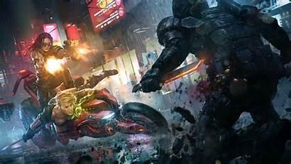 4k Cyberpunk Sci Fi Total War Battle