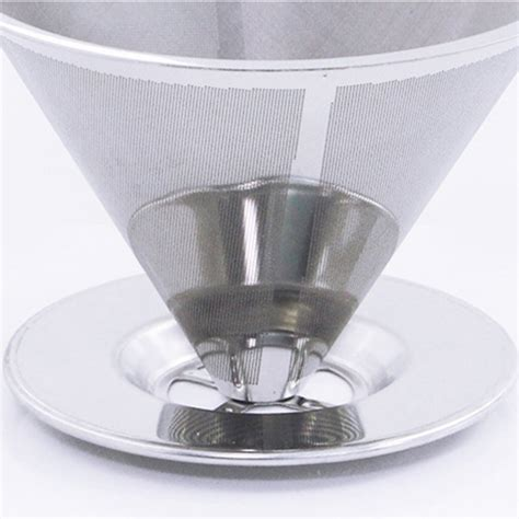Dispatched with royal mail 2nd class. Stainless Steel Coffee Filter Mesh Strainer With Stand Tea Dripper Pour Funnel | eBay