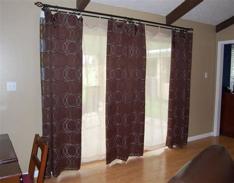 Patio Door Blinds With Curtains by Patio Door Curtain Rods Window Treatments Design Ideas
