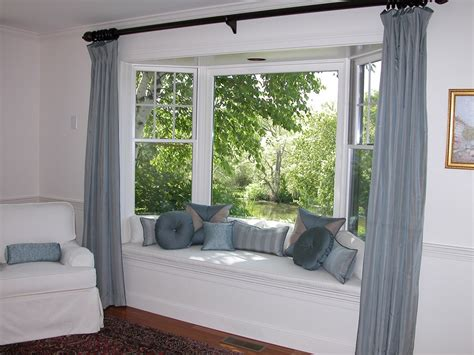 bay window curtains bay window curtains ideas for privacy and beauty homestylediary com