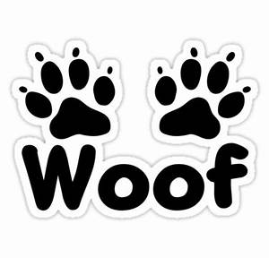 """""""Woof Dog Paws"""" Stickers by KimberlyMarie Redbubble"""