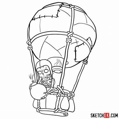 Balloon Draw Clash Skeleton Clans Step Drawing