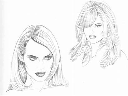 Hairstyles Drawing Types Hairstyle Sketch Figure Hair