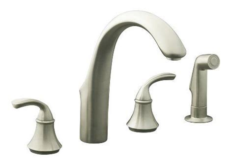KOHLER K 10445 BN Forte Widespread Kitchen Faucet, Vibrant