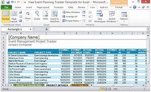 Free event planning tracker template for excel for Project manpower planning template